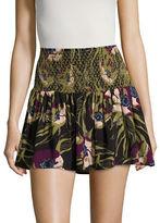 Free People LA Nights Floral Mini Skirt