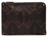 Valentino Love Blade-print Canvas Document Holder