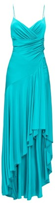 Alexandre Vauthier Open-back Draped Jersey Dress - Dark Green