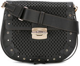 Furla Club laser-cut saddle bag - women - Calf Leather/Metal (Other) - One Size