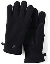 Lands' End Women's 200 Fleece Insulated EZ Touch Gloves-Jet Black