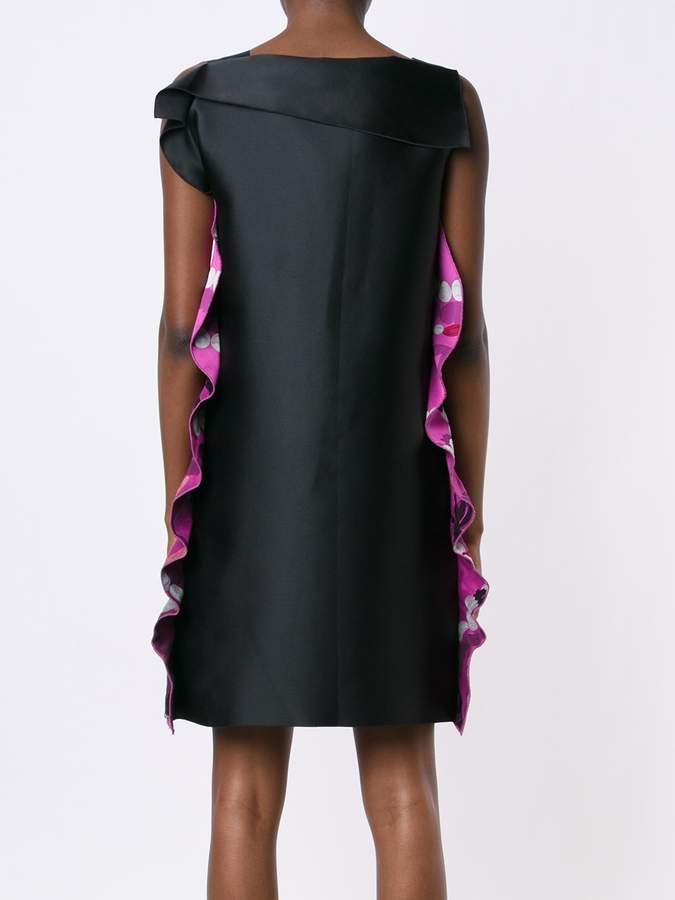 Lanvin bow detail printed dress