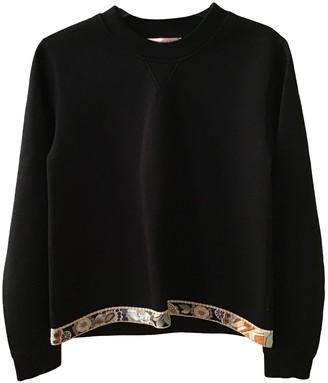 Leonard Black Cotton Knitwear