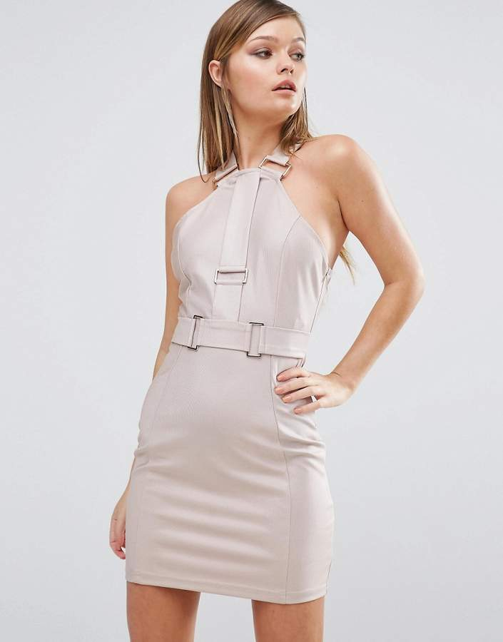 Rare Hardware Strap Mini Dress