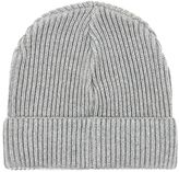 Selected Homme Grey Ribbed Beanie Hat
