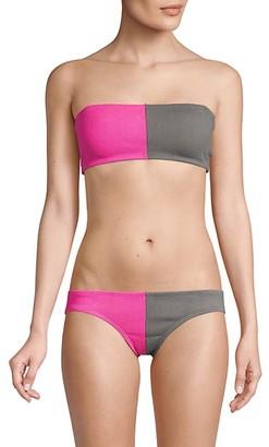 PQ Two-Tone Bandeau Bikini Top