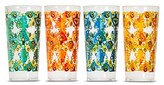 Mudhut Damask & Dots 22oz Plastic Tall Tumblers - Set of 4