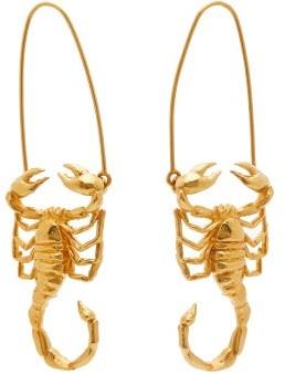 Givenchy Scorpio Zodiac Hoop Earrings - Womens - Gold
