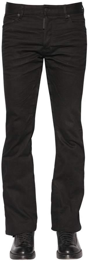 DSQUARED2 24cm Ski Stretch Drill Jeans W/ Tulle