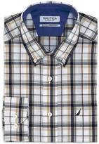 Nautica Classic Fit Wrinkle Resistant Marine Plaid Shirt