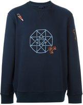 Lanvin embroidered graphic sweatshirt