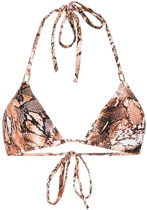 Melissa Odabash Grrenada snake print bikini top