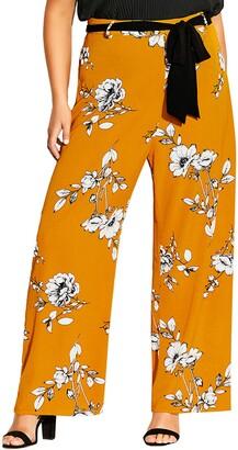 City Chic Serene Floral Pants