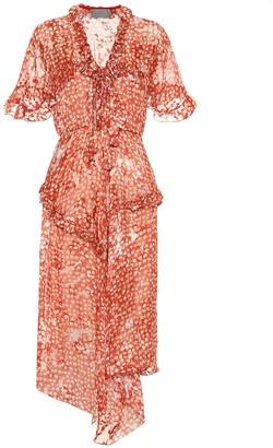Preen by Thornton Bregazzi Misty floral satin devore dress