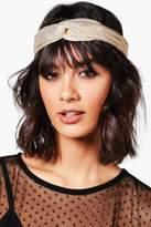 boohoo Sophie Metallic Twist Knot Turban Headband