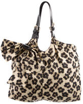 RED Valentino Printed Bow-Accented Tote
