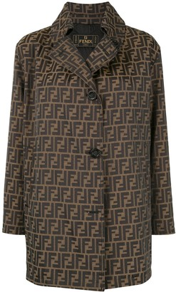 Zucca pattern long sleeve jacket coat