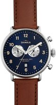 Shinola 43mm Canfield Chronograph Watch, Brown