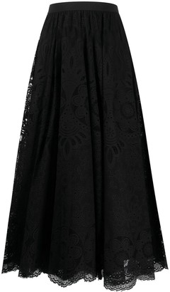 RED Valentino High-Waisted Lace Skirt
