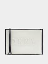 DKNY Neoprene Bonded Lamb Nappa Clutch Pouch