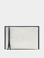 DKNY Neoprene Bonded Lamb Nappa Leather Clutch