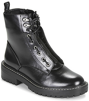 Only BOLD 4 PU LACE UP BOOT women's Mid Boots in Black