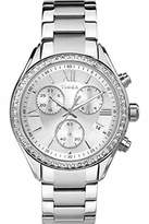 Timex Kaleidoscope Miami Women's Quartz Watch with Silver Dial Chronograph Display and Silver Stainless Steel Strap TW2P66800