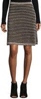 M Missoni Ribbed Metallic Mesh Skirt