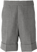 Thom Browne chino shorts - men - Cupro/Wool - 1