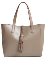Sole Society Zyla Faux Leather Tote - Grey