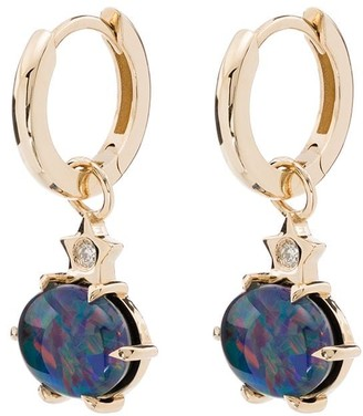 Andrea Fohrman 14kt Yellow Gold, Opal And Diamond Drops Earrings
