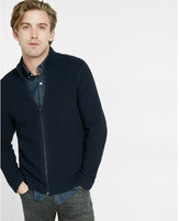 Express full zip mock neck sweater