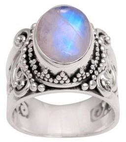 Novica Handmade 'Glorious Vines' Rainbow Moonstone Ring