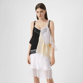 Burberry Lace Trim Silk Satin Reconstructed Camisole