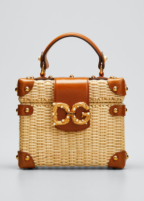 Dolce & Gabbana Wicker Box Top Handle Bag