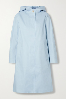 MACKINTOSH Chryston Hooded Bonded Cotton Trench Coat - Sky blue