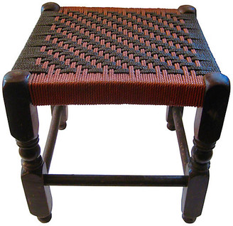 One Kings Lane Vintage 1920s American Stool - The Emporium Ltd. - red/brown