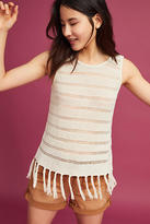 Michael Stars Fringed Knit Tank