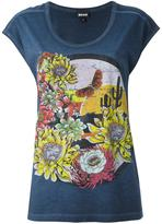 Just Cavalli floral print T-shirt - women - Cotton - XS