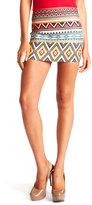 Charlotte Russe Elastic Aztec Mini Skirt