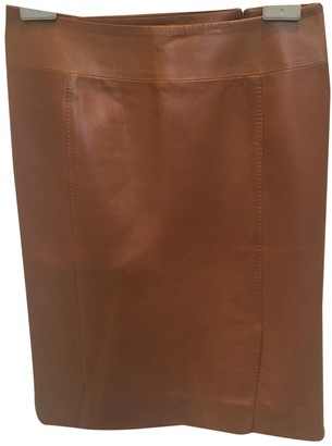 Gucci Brown Leather Skirt for Women Vintage