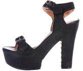 Givenchy Raffia Platform Sandals