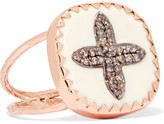 Pascale Monvoisin Bowie N°2 9-karat Rose Gold, Diamond And Bakelite Ring