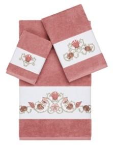 Linum Home Bella 3-Pc. Embroidered Turkish Cotton Towel Set Bedding
