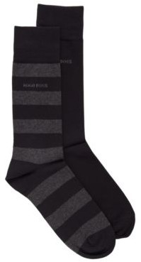 BOSS Two-pack of regular-length socks in a combed-cotton blend