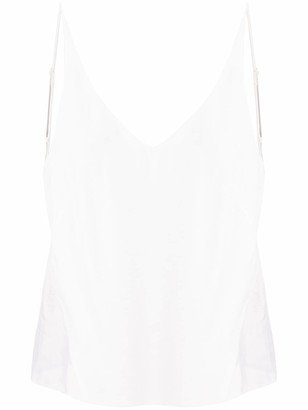 J Brand Lucy sheer panel camisole