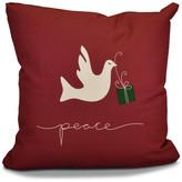 "Decorative Holiday Pillow, Animal Print, Cranberry, 16""x16"""