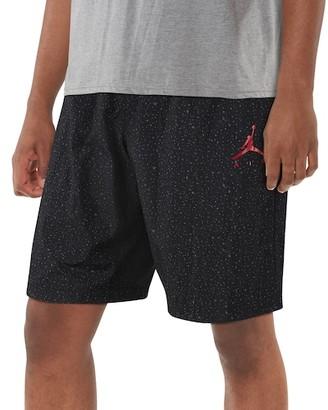 Jordan Cement Poolside Shorts - Black / Gym Red