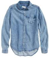 Tractr Girl's Button Front Shirt