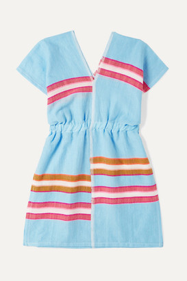 Lemlem Kids - Eskedar Striped Cotton-blend Gauze Dress - Blue